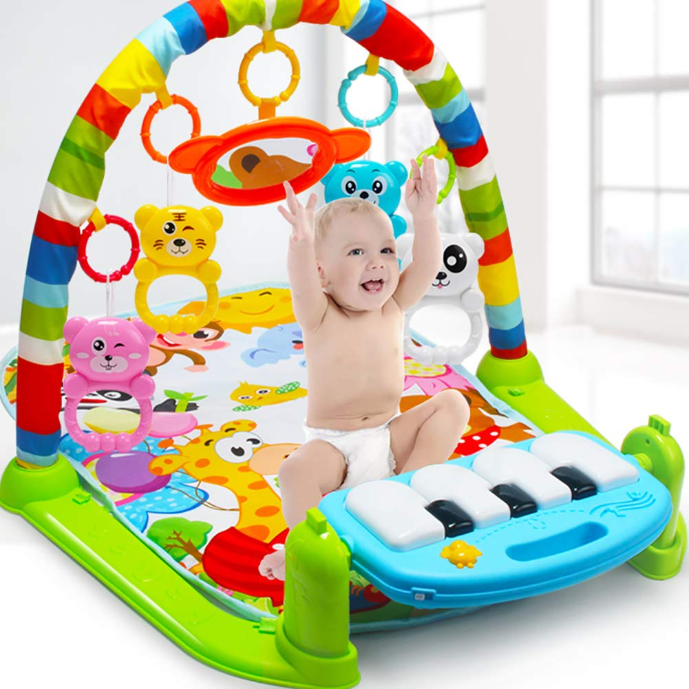 Bluelans Infant Baby Pedal Piano Play Mat Activity Gym Blanket Early Learning Educational Toy for Baby Boys Girls Xmas Gifts Xmas Stocking Fillers Party Bag Gifts
