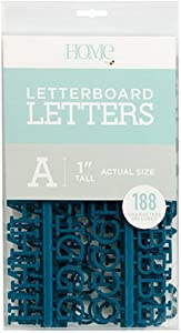 "DCWVE Die Cuts with A View 1"" Letter Pack Letterboard-Navy (188 pcs) LP-006-00011, 1"""