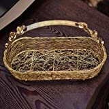 GiftingBestWishes Wedding/ Gift/ Packing Tray/Small Boat Wire Tray