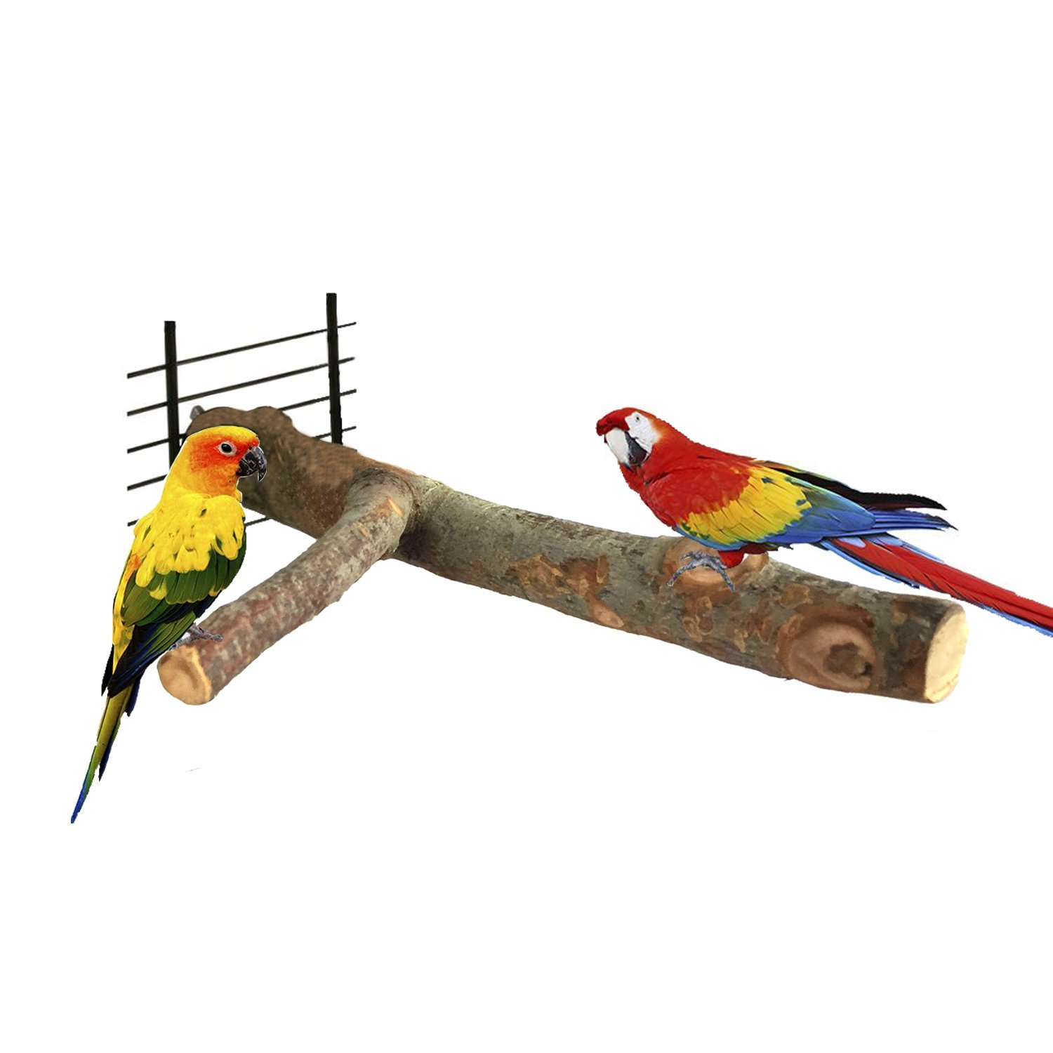 Bwogue Bird Perch,Nature Apple Wood Stand Toy Branch For Parrots Cages Toy