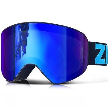 ZIONOR Lagopus X9 Gafas de esquí con Lente Cilíndrica Anti niebla ...