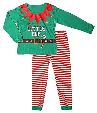 d21ae83a80bdb Garçon Fille Noël Little Elf Noël Fantaisie Déguisement Pyjama Tailles de 2  à 13 Ans -