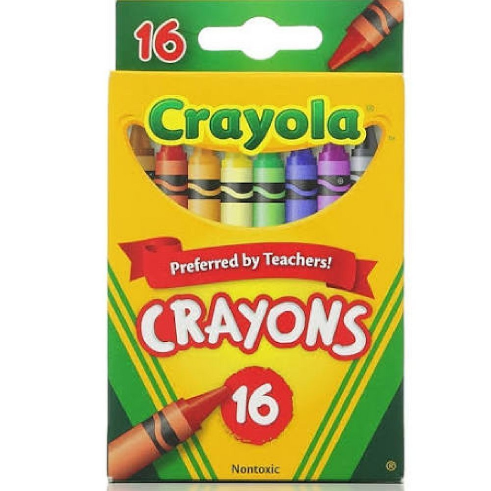 White Blue Black Crayola FBA/_52-3016 Classic Color Pack Crayons 16 ea Orange Purple Red Green Brown etc.