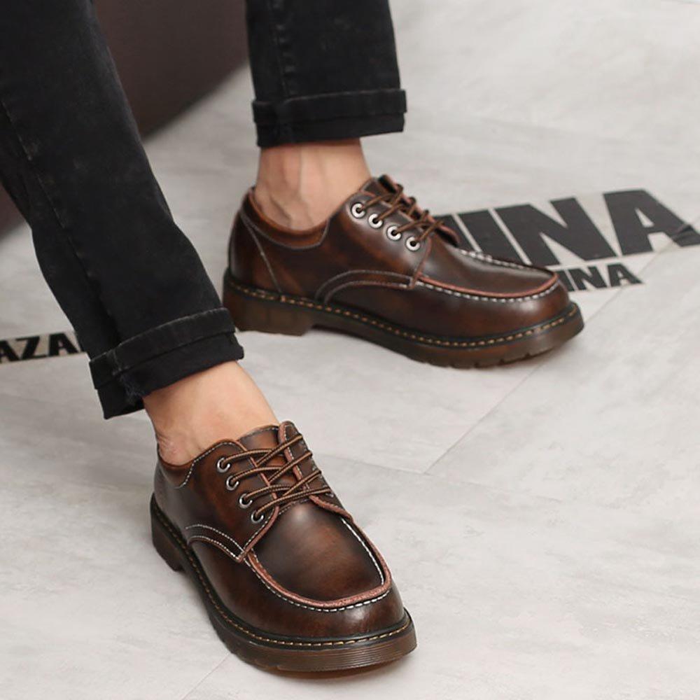 JIALUN-Schuhe Herren Schuhe Schuhe Schuhe aus echtem Leder Lece Up Outsole Oxfords Low Top Stiefeletten für Herren (Farbe   Braun, Größe   43 EU) 0a361c