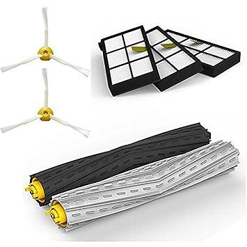 Adtechome Kit de Piezas de Repuesto de Aspirador para iRobot Roomba 800/900 series 870 880 980, Kit de piezas de repuesto de Robots de limpieza por vacío: ...