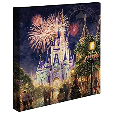 Thomas Kinkade - Gallery Wrapped Canvas , Main Street U.S.A. Walt Disney World Resort , 14  x 14  , 66331