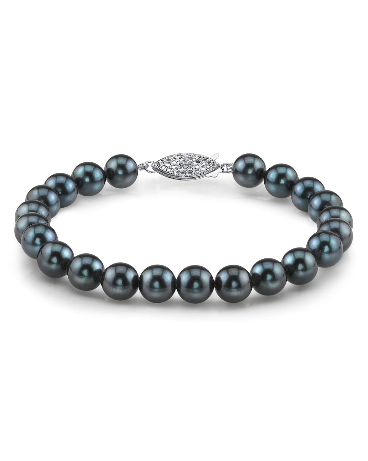 5.0-5.5mm Black Akoya Cultured Pearl Bracelet