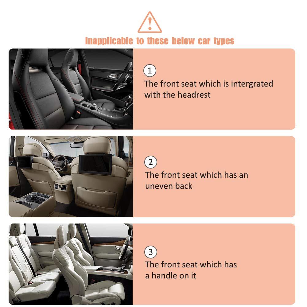 Awroutdoor Auto R/ückenlehnenschutz Autositz mit Durchsichtigem Gro/ßen iPad-Tablet-Halter Wasserdichtes 2 St/ück Auto R/ücksitz Organizer f/ür Kinder,Autositz Organizer mit Taschen