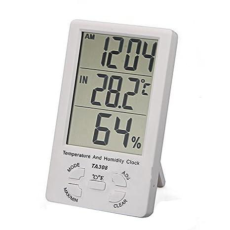 LCD digital medidor de temperatura y humedad en/al aire libre higrómetro termómetro de Nueva