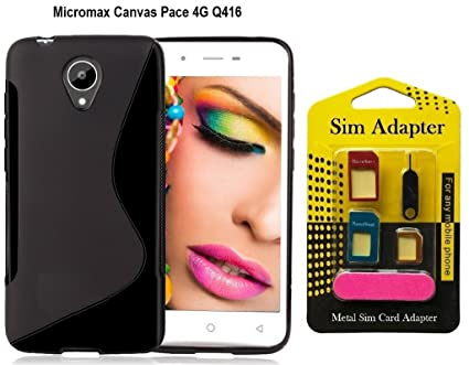 new style 00826 d0e1c Micromax Canvas Pace 4G Q416 Back Case Cover + Metal: Amazon.in ...