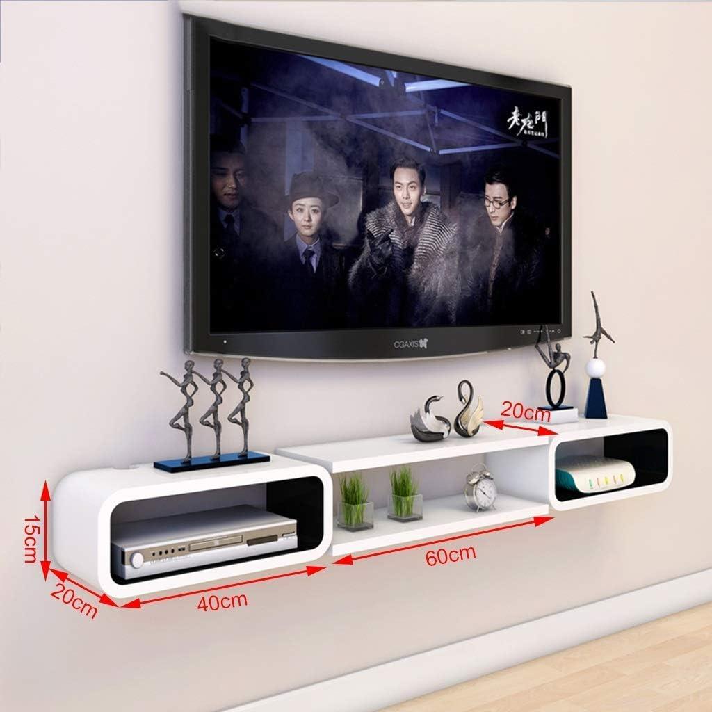 MultifuncióN Estante Almacenamiento Baldas Muebles Estantes flotantes blancos Estantes de gabinete de TV for montaje en pared Estantes de unidad de almacenamiento Estantes for reproductores de DVD / B: Amazon.es: Hogar