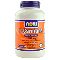 L-Carnitine, 1000 mg, 100 Tablets - Now Foods