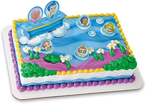 Marvelous Amazon Com Decopac Bubble Guppies Gil Molly And Gang Decoset Birthday Cards Printable Inklcafe Filternl
