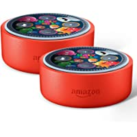 2-Pack Amazon Echo Dot Kids Edition (Punch Red) + 2 Free UglyDoll Skins