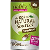 Natural sweetener and sugar alternative - granulated stevia leaf powder - no xylitol, saccharin - diabetics friendly - Natvia 200gram canister