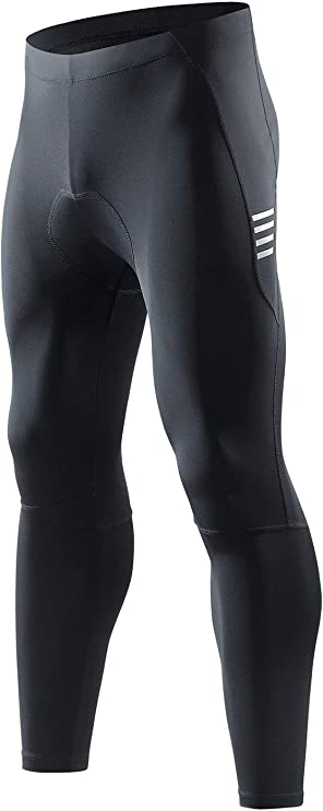 Santic Men's Cycling Bike Pants 4D Padded Compression Long Riding Bicycle Tights