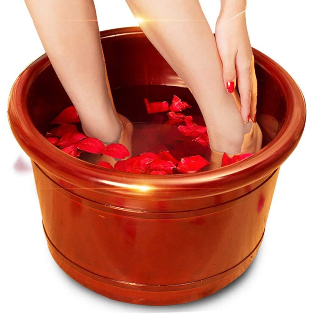 足浴バレル足浴槽、ふた付きフットマッサージマッサージ健康温泉手動マッサージツールなめらかな足をリラックス、15