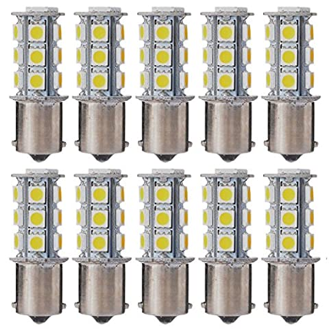 1156 1141 1003 BA15S LED Bulbs,AUTOSAVER88 18 SMD Warm White LED Lights for Replacement of Turn Signal Light Car Back up Parking Tail Light 1459 1619 1651 1680 (Pack of (1156 Led Bulb Replacement)