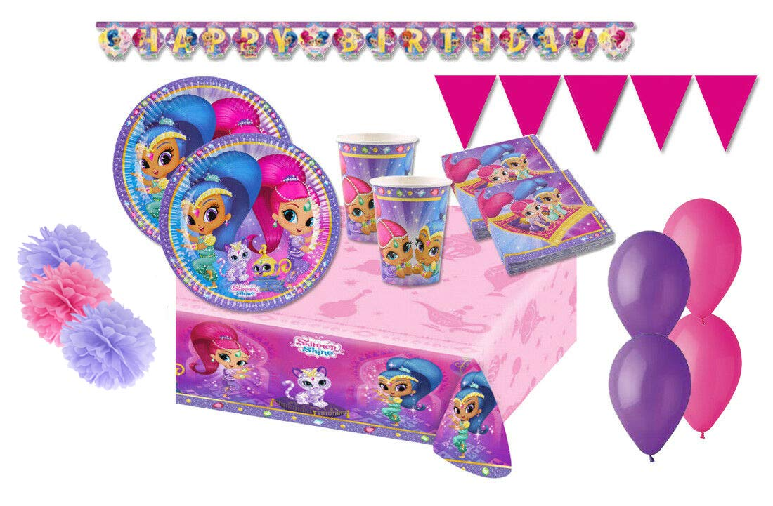 Decorata Party Kit 46 F Fiesta de cumpleaños Shimmer & Shine ...