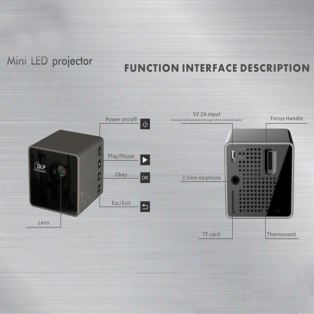 ETbotu Mini LED Projector Wi-Fi Wireless DLP Smart Video Beam Office Teaching Home Use