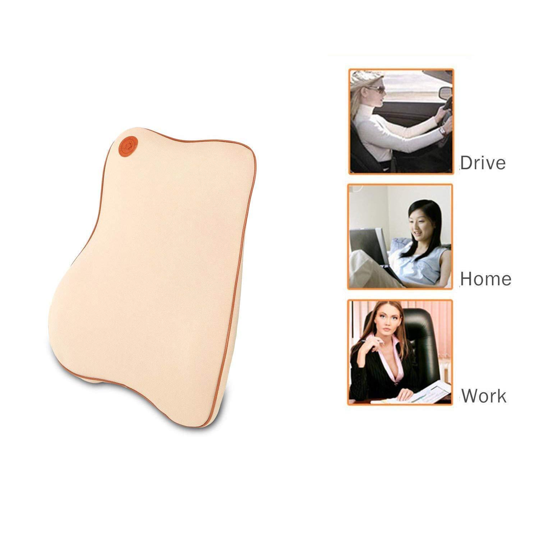 Beige Ecloud Shop/® Lumbar Support Cushion Premium Memory Foam for Car Ergonomically Design Universal Fit Major Car Seat