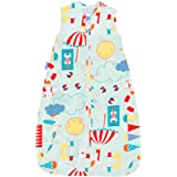 The Gro Company Beside the Sea 18-36 Months, 0.5 Tog Extra Cool Travel Grobag with Fabric Carry Bag