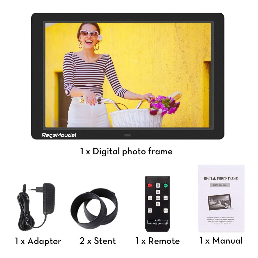 Digital frame, RegeMoudal 12 Inch Electronic photo frame with Wireless Remote Control, Support SD Card/USB by RegeMoudal (Image #6)