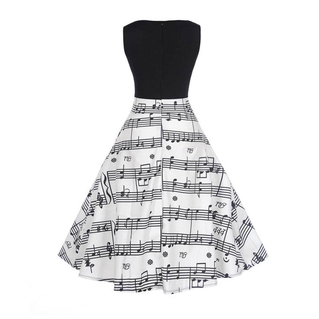 Longra Damen 50s Rockabilly Kleid Vintage Partykleider ...