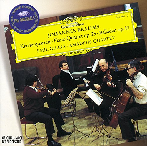 Brahms: Piano Quartet No.1 In G Minor, Op.25; 4 Ballades, Op. 10