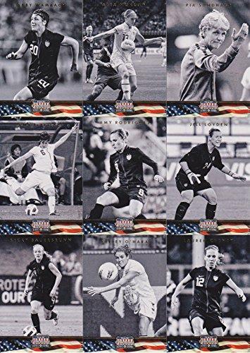 Panini 22-Card USA Women's National Team Soccer Card Set. Includes Loads of Stars Like Wambach, Lloyd, Morgan, Solo, Rapinoe, Sauerbrunn, Heath, Rampone, Boxx, etc, etc.