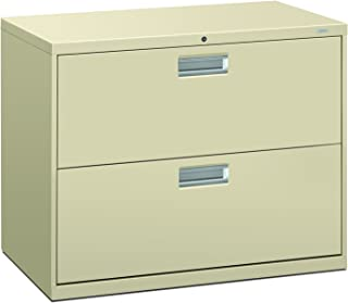 """product image for HON Brigade 600 Series Lateral File Cabinet 36"""" W, 2 Drawers, Putty (H682)"""