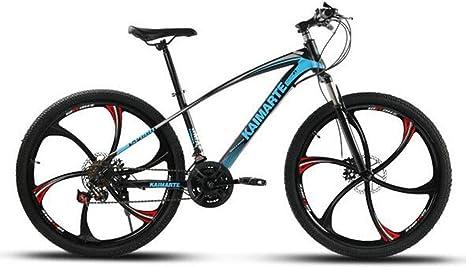 Gaoyanhang Bicicleta de montaña, Frenos de Disco Delantero y Trasero de la Bicicleta y Bicicleta de 21 velocidades 24 y 26 Pulgadas y bandeleta de Andar en Bicicleta: Amazon.es: Deportes y aire libre