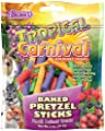 F.M.Brown's 44915 Tropical Carnival Baked Pretzel Sticks Treat for Small Animals, 2-Ounce by F.M.Brown's