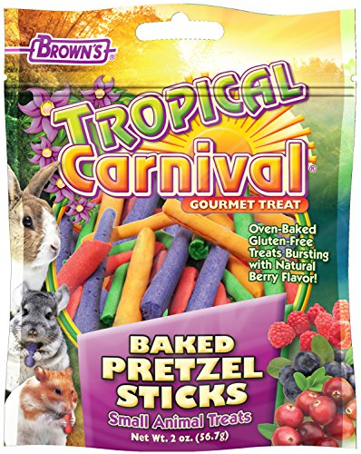 F.M.Brown's 44915 Tropical Carnival Baked Pretzel Sticks Treat for Small Animals, (Carnival Treats)