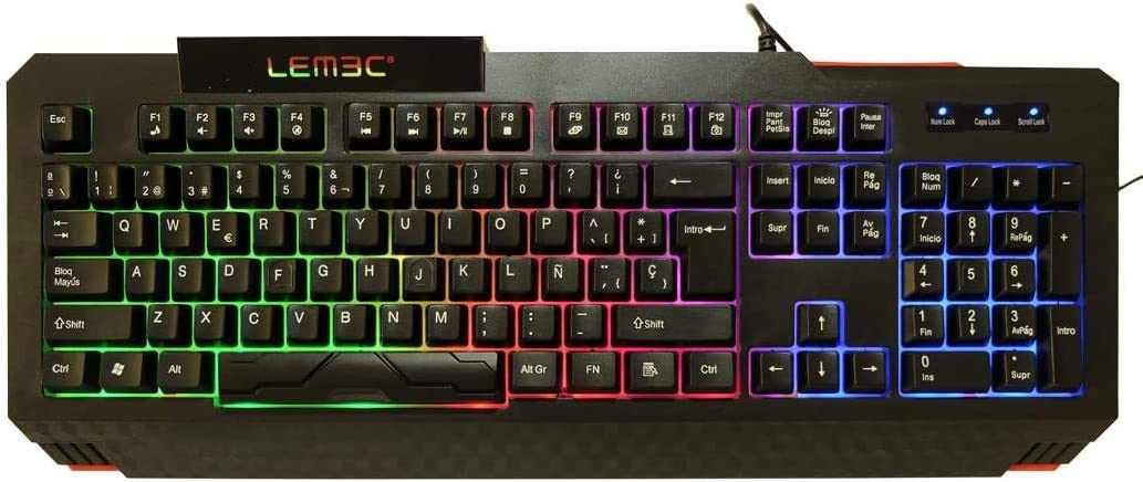 LEMEC. Gaming X-Thunder Teclado PC de Juego. Waterproof ...