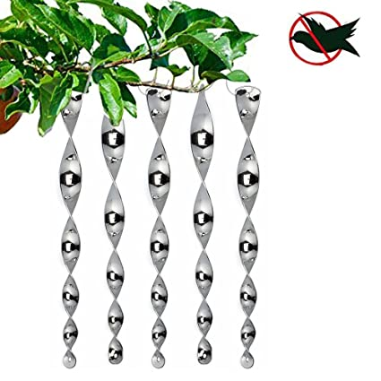Repellent Wind Twisting Scare Rods (12 Inch) (Set Of 5)Keep Birds