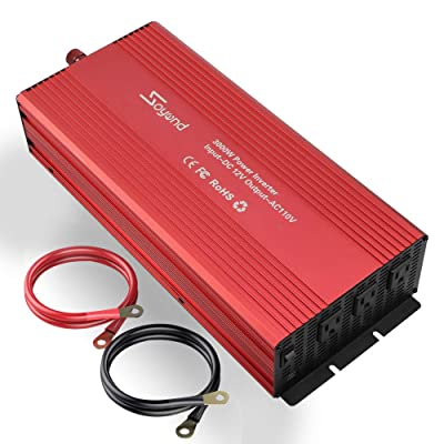 soyond 3000W Power Inverter Modified Sine Wave Converter for Home Car RV with AC Outlets Converter DC 12V in to AC 110V Out: Automotive