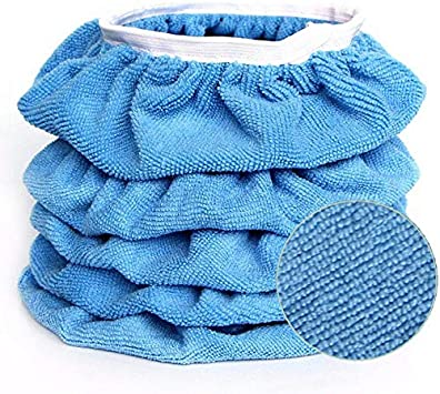 8 Pack Washable Buffing Pad Cover with Elastic Strap for Car Waxing Polishing Detailing AOIT Microfiber Polishing Bonnet Pads Work with Polisher and Buffer