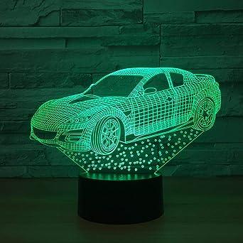 Luz de noche 3D (táctil) Ilusión LED Lámpara de mesa Luz de ...