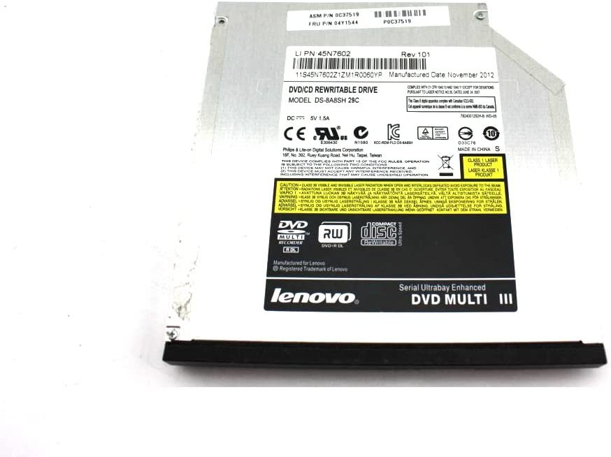 Genuine IBM DS-8A8SH DVD-ROM//CD-RW SATA Laptop Optical Drive 04Y1544