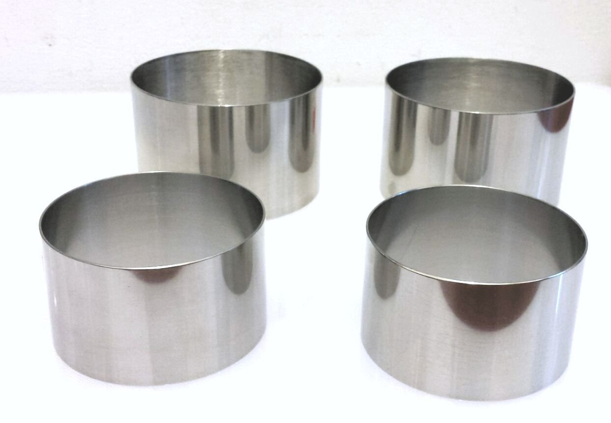 Plating/forming Stainless Steel Ring Mold Sets (4 rings)