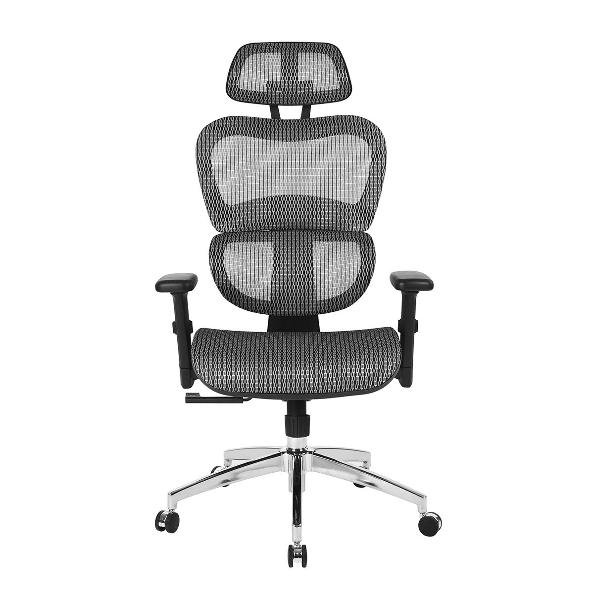 HOMY CASA Mesh Office Chair Ergonomic Gaming Chair Lumbar Support High Back Support Height Adjustable Tiltable Desk Chair with Ajustable Armrest for Home, Office, Dark Grey