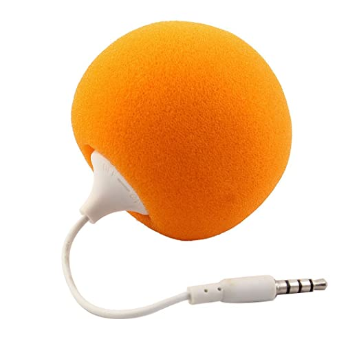 Amazon.com: DealMux portátil 3,5 milímetros de áudio Speaker Jack Music Player 2 PCS laranja para PC portátil Telefone: Home Audio & Theater