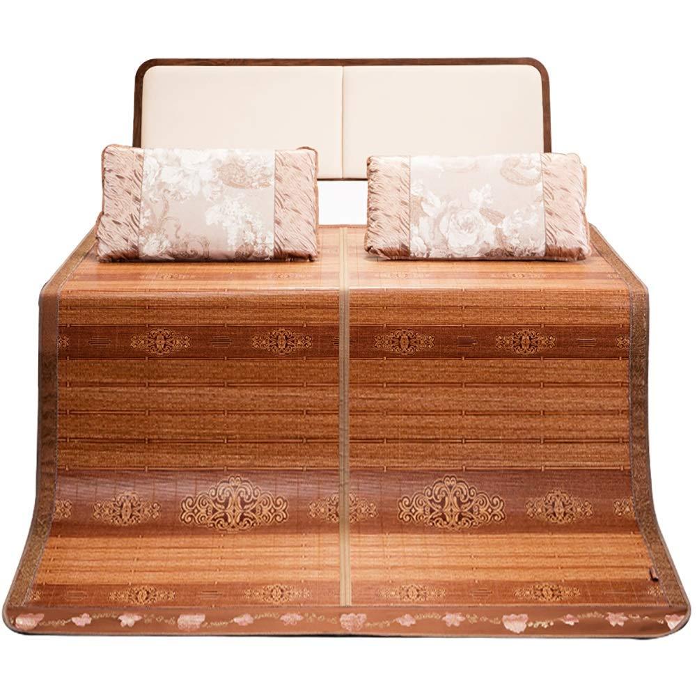 マットレス 冷却マットレス折りたたみ竹マット、夏の睡眠マットクールスムースエアコンマット (Size : W1.8mx2.00m) B07TCDL67V  W1.8mx2.00m