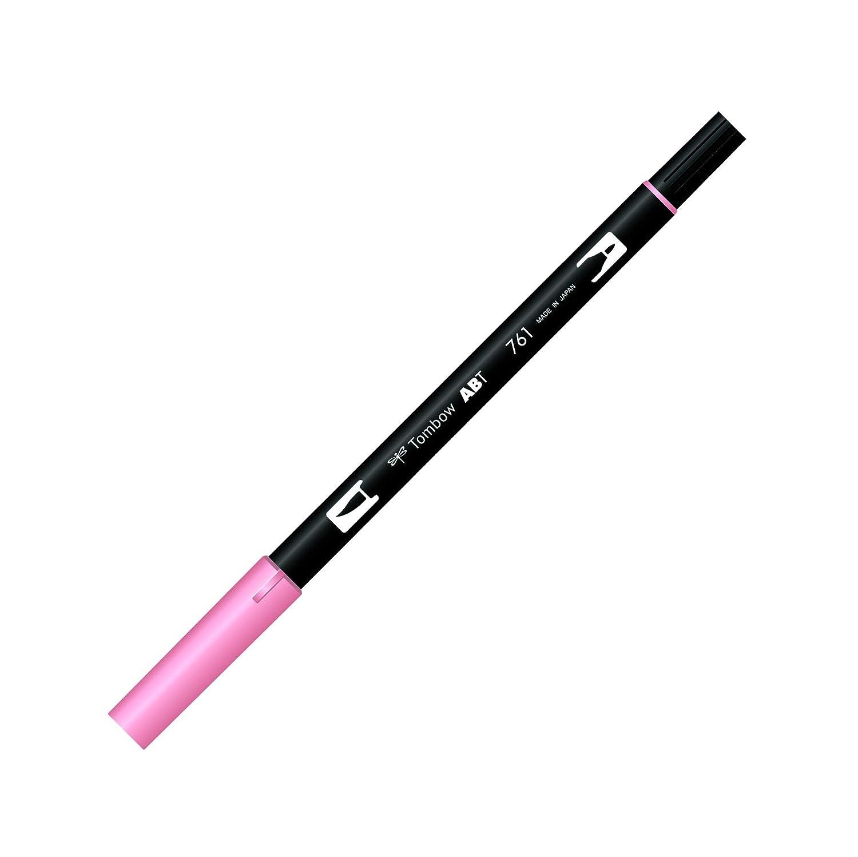 color rosa Tombow Rotulador de punta doble 743 Hot Pink
