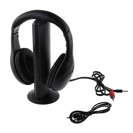 Auricular Inalámbrico con Micrófono para Radio PC TV: Amazon.es: Electrónica