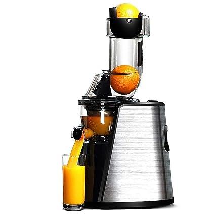 HhGold Exprimidor de Gran diámetro Exprimidor Inicio Automático Exprimidor de Frutas y Verduras Multiusos Lento,