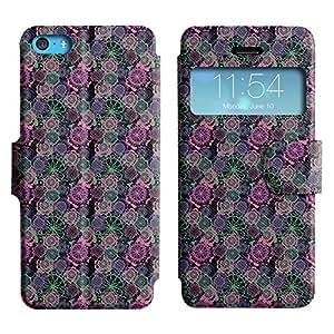 LEOCASE rueda dentada Funda Carcasa Cuero Tapa Case Para Apple iPhone 5C No.1006872