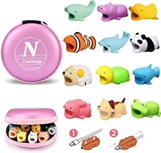 Newseego Compatible iPhone Cable Protector Charger Saver Cable Cute Animal Cable Accessory-4 Pack