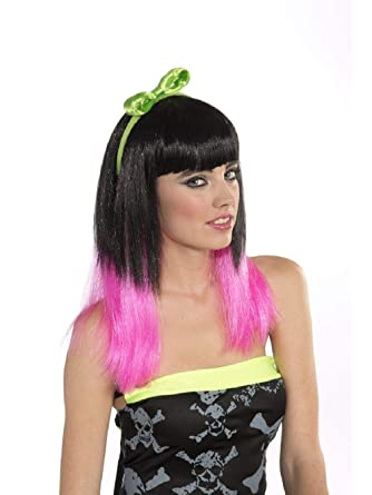 Amazon.com  Womens 80s Style Club Candy Punk Rocker Costume Neon Green  Headband with Bow  Clothing 346d6a77d3a